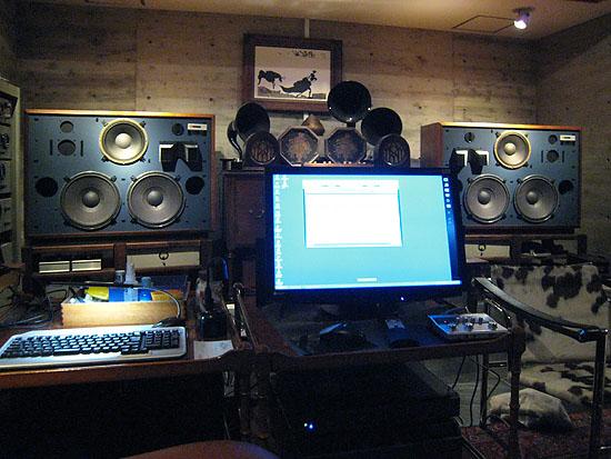 PCオーディオで管理するJBL4355とレビンソンのアンプ類